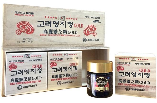 Cao linh chi đỏ hộp gỗ trắng extract Gold - YoungJi