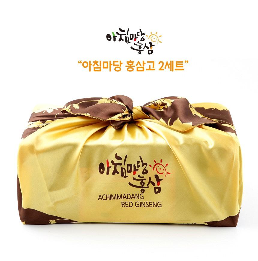 Achimmadang - Cao hồng sâm hũ đôi hộp gỗ VIP
