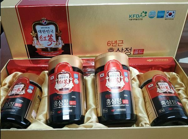 Cao hồng sâm cô đặc Korean Red Ginseng Extract Gold 4 lọ