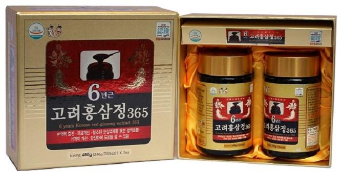 Cao Hồng Sâm Hàn Quốc Deahan 365 – Hộp 2 Lọ x 240g