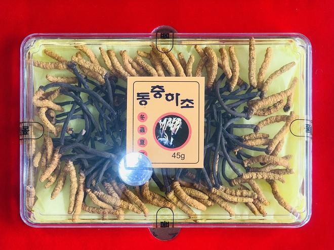 Đông Trùng Hạ Thảo nuôi nguyên con Hàn Quốc hộp 45gr