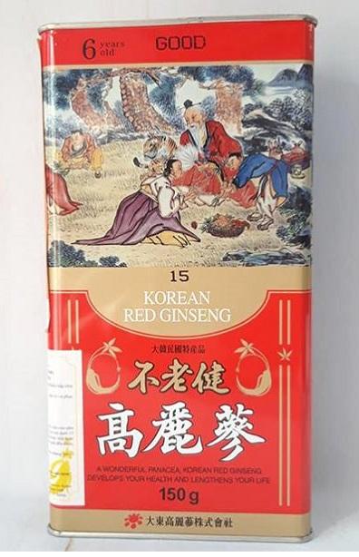 Hồng Sâm Củ Khô 6 Năm Daedong 150gr – Số 15