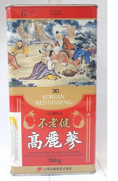 Hồng Sâm Củ Khô 6 Năm Daedong 150gr – Số 30